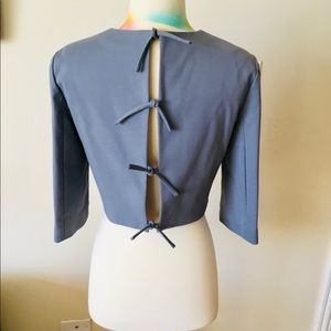 NWT TIBI short top with four bow closure Size 4